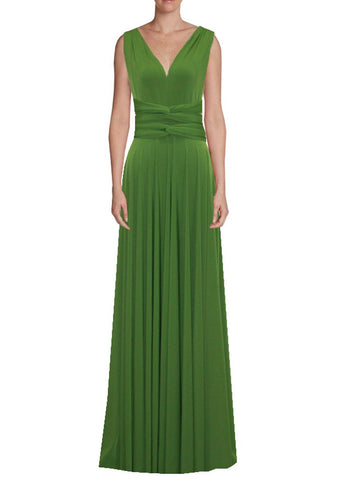 Long infinity bridesmaid dress Chartreuse convertible gown for prom, evening or formal occasions XS-5XL