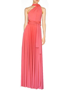 38462e8188f4 Long convertible dress Coral infinity gown for prom, weddings or forma –  EK-fashion.com