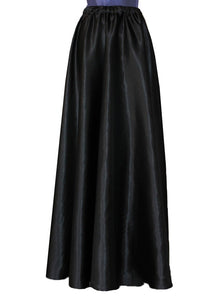 Long satin skirt Black formal & evening maxi skirt XS-L
