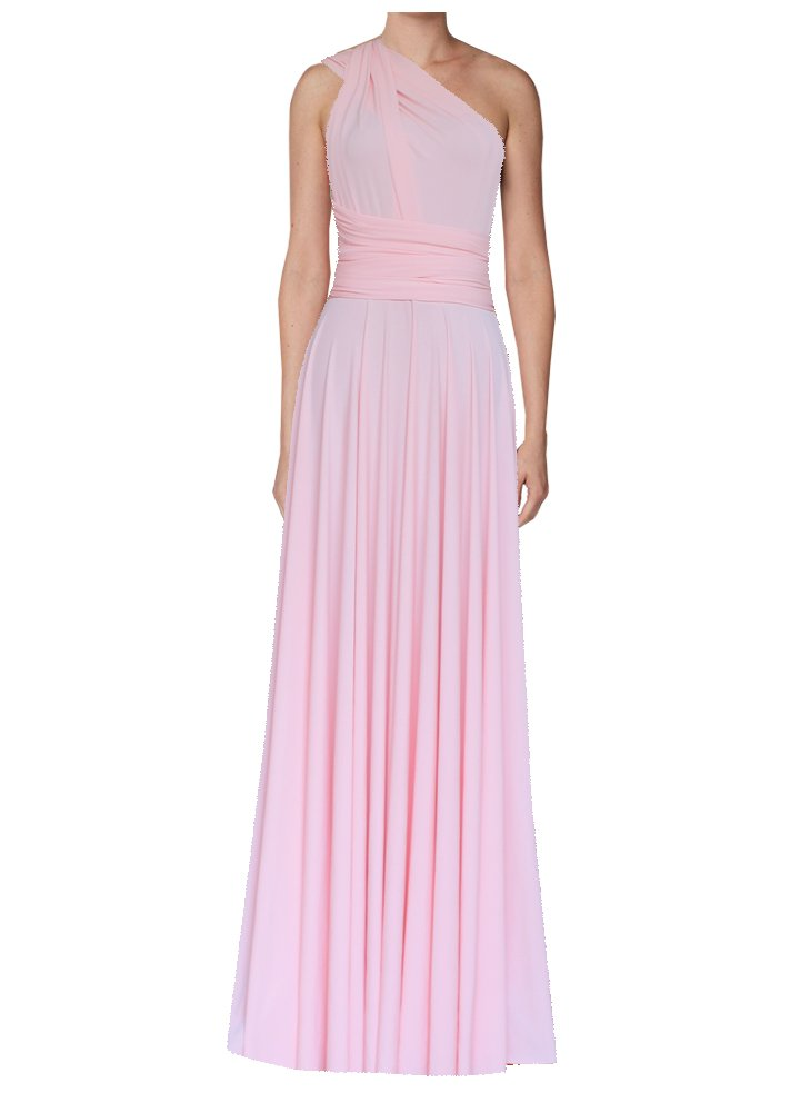 Bridesmaids convertible dress Baby pink infinity long gown for prom, weddings or formal occasions XS-5XL