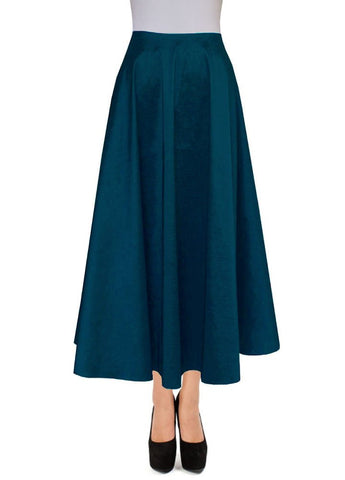 Teal taffeta skirt Ankle length skirt for formal or evening occasions XS-4XL