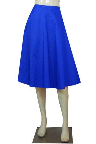 Royal blue taffeta skirt in tea length for formal or evening occasions XS-4XL