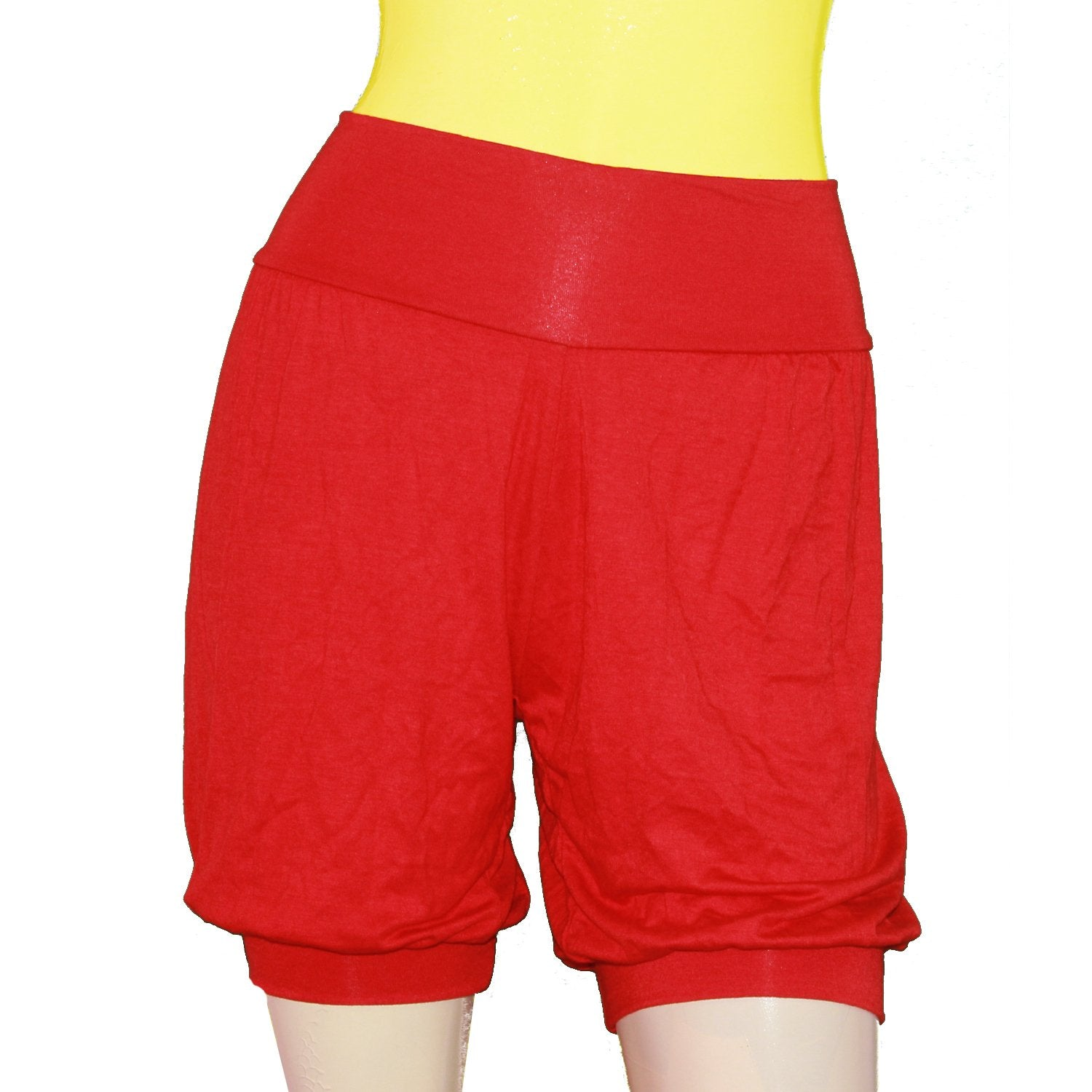 Red Iyengar yoga shorts Ballet dance jersey sexy beach pants