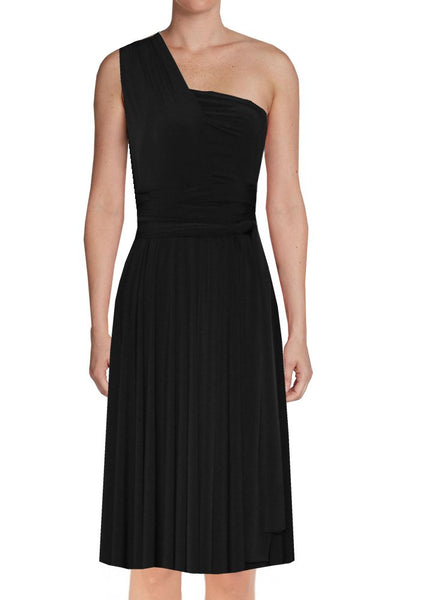 Short convertible bridesmaid dress Black infinity gown for prom evening & formal occasions XS-5XL
