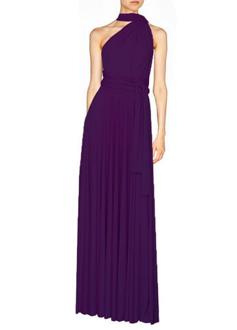 Long infinity bridesmaid dress Deep purple convertible gown for prom, evening or formal occasions XS-5XL