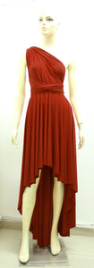 burnt orange dress prom high low gown bridesmaids infinity dress