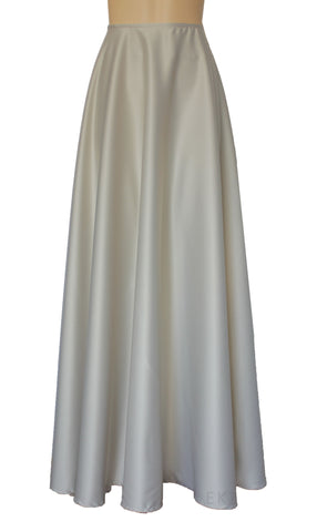 Long Wedding Skirt Neutral Bridesmaid Separates Aline Prom Skirt Plus Size Evening Gown Formal Skirt