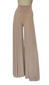 wide leg pants beige palazzo pants plus size flare pants