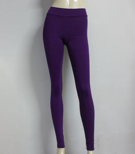 Purple leggings simple yoga tights ballet dance wear