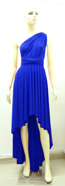 royal blue dress infinity bridesmaids gown plus size prom dress
