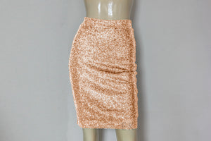 sequin skirt hobble plus size skirt rose gold bridesmaids separates minimalist metallic skirt
