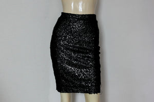 black sequin skirt short prom skirt simple pencil skirt glam bodycon