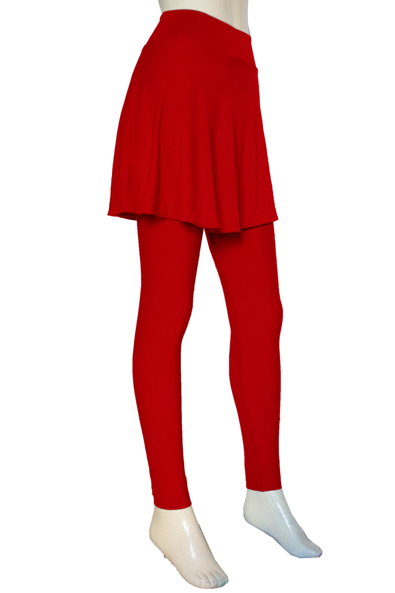 later big discount sale replicas Skirted leggings Red yoga pants with skirt Plus size jogging tights High  waist jersey leggings