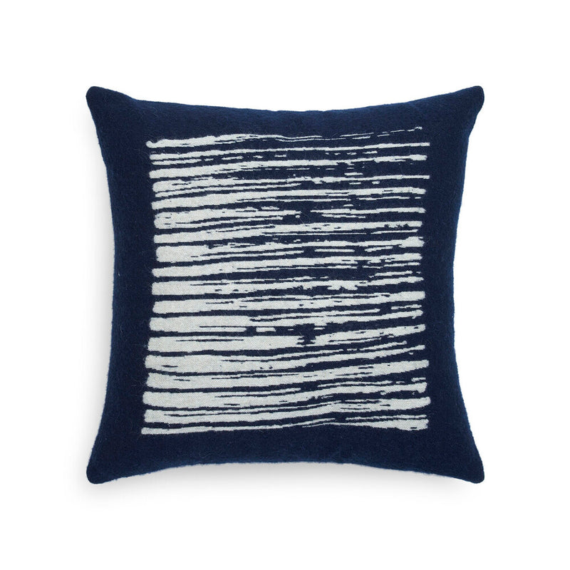 Navy Lines Cushion - Square