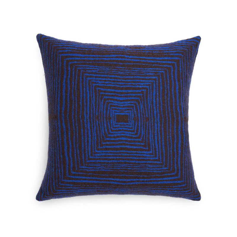 Brown Linear Square Cushion