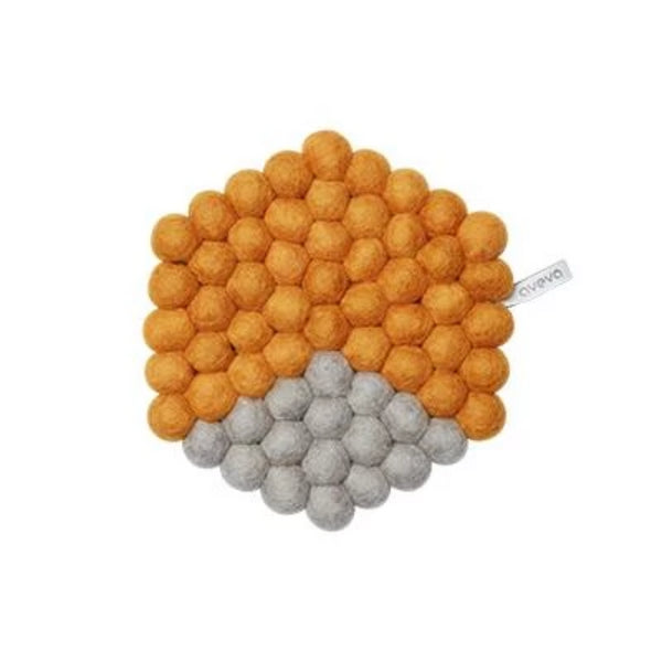 Aveva Design Wool Hexagon Trivet
