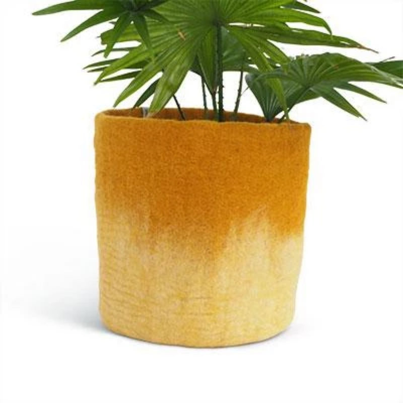 Aveva Design Wool Cylindrical Ombre Flower Pot