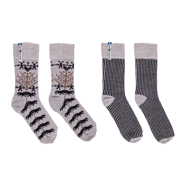 Yggdrasil Pattern Swedish Everyday Socks Ojbro Vantfabrik, 2 Pack