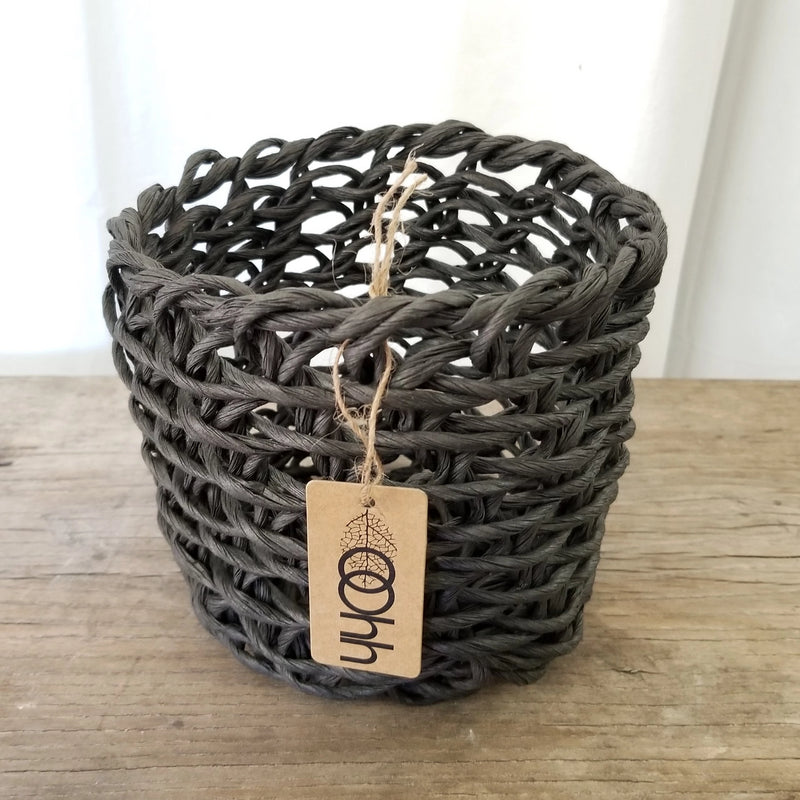 Oohh Woven Paper Basket Curve