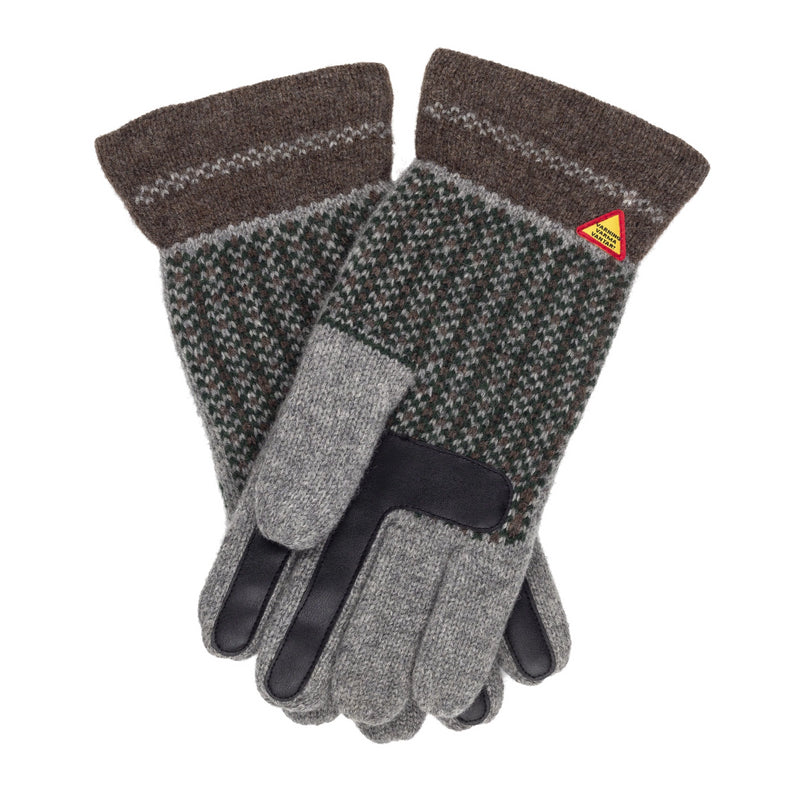 Swedish Merino Wool Touchscreen Gloves - Skogen Pattern - Ojbro Vantfabrik