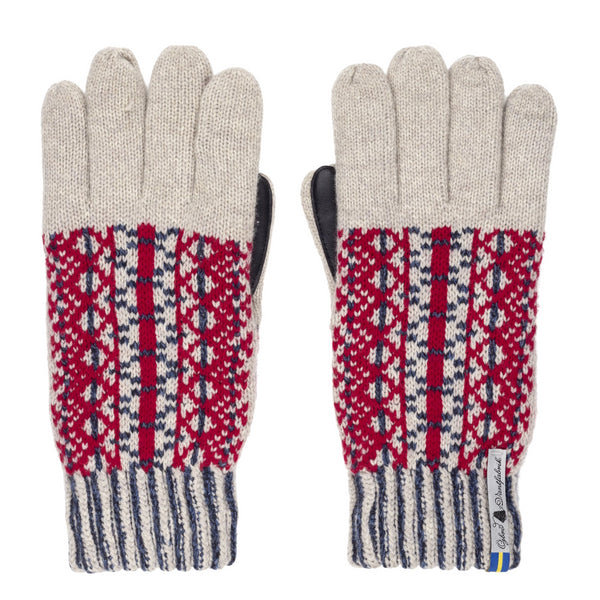 Swedish Merino Wool Touchscreen Gloves - Lycksele Pattern - Ojbro Vantfabrik