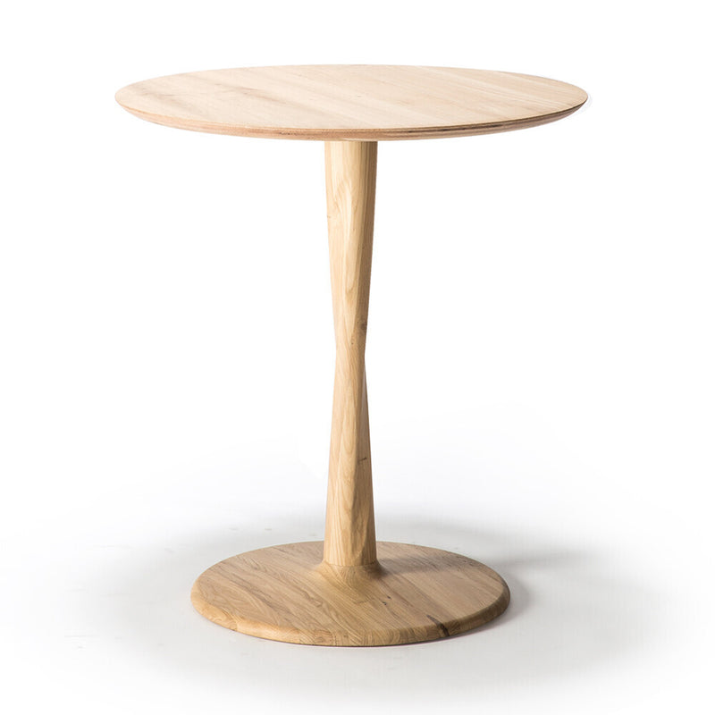 Oak Torsion Circle Dining Table