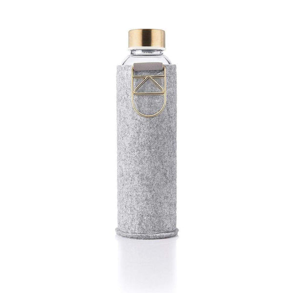EQUA Glass Water Bottle - Mismatch Collection - Metallic Handle