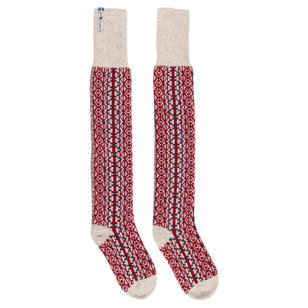 Lycksele Pattern Swedish Over Knee Socks Ojbro Vantfabrik