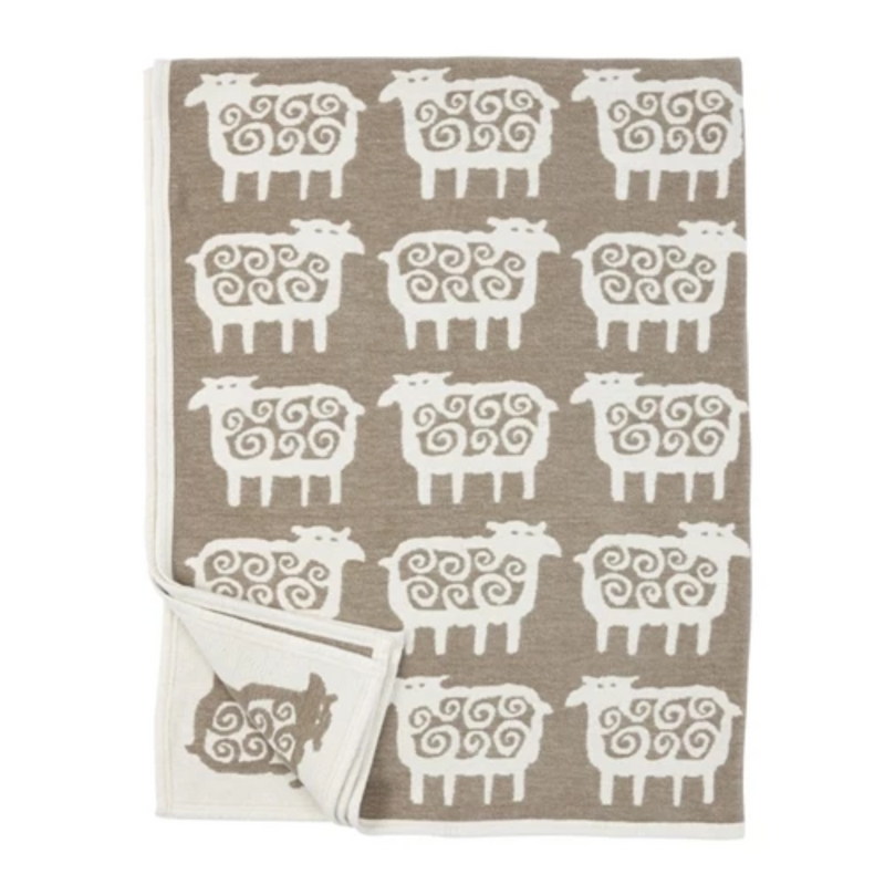 Klippan Black Sheep Cotton Blanket
