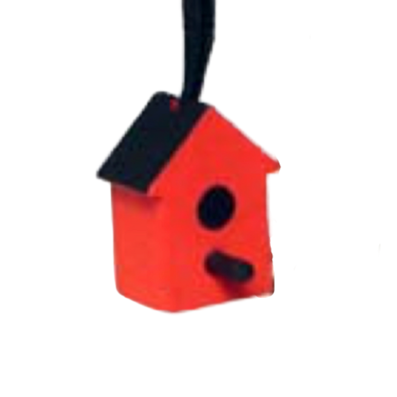 Wooden Birdhouse Ornament