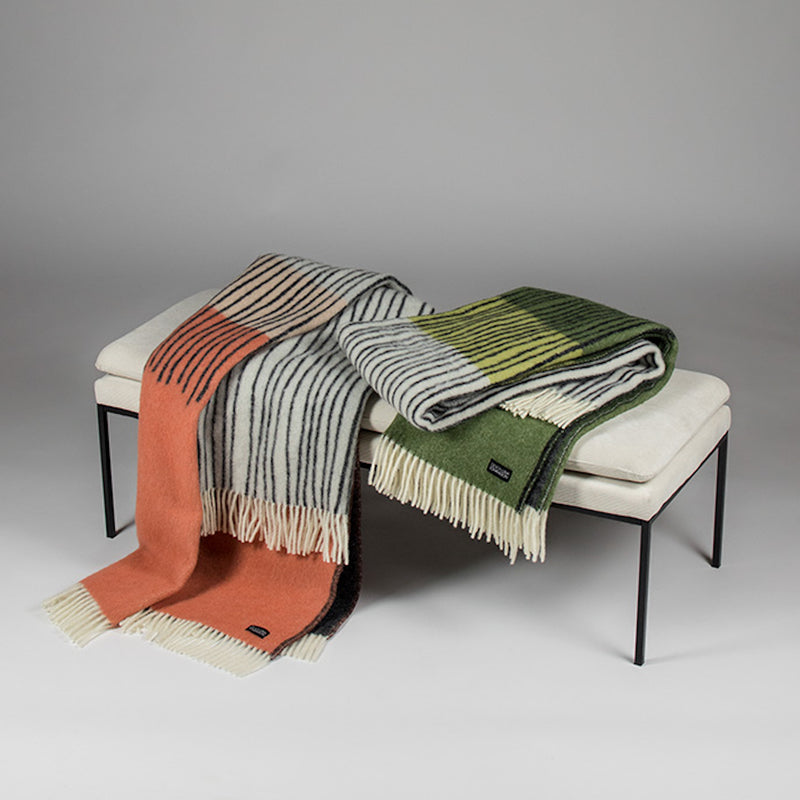 Draw Wool Blanket by Lina Johansson