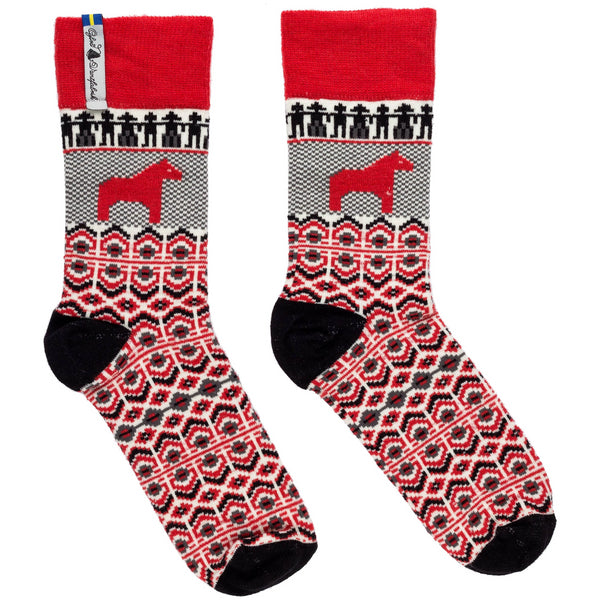 Dalarna Pattern Swedish Everyday Socks Ojbro Vantfabrik