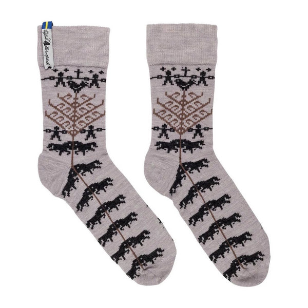 Yggdrasil Pattern Swedish Everyday Socks Ojbro Vantfabrik