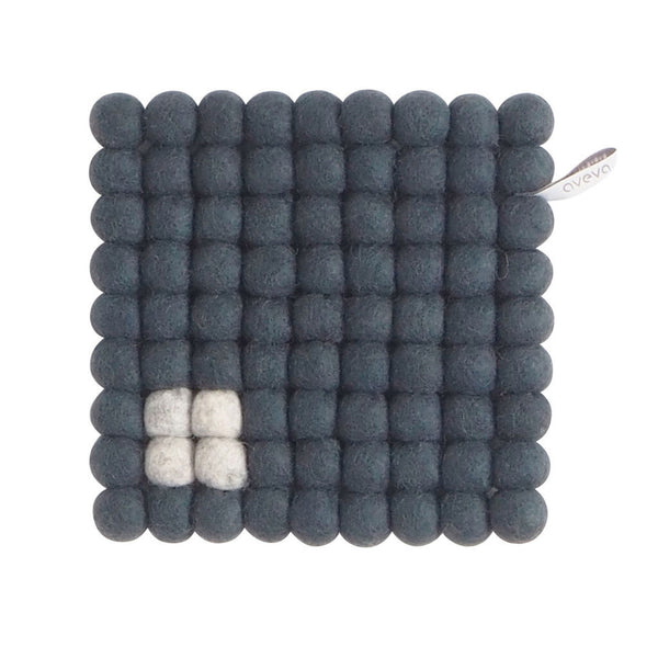 Aveva Design Wool Square Trivet