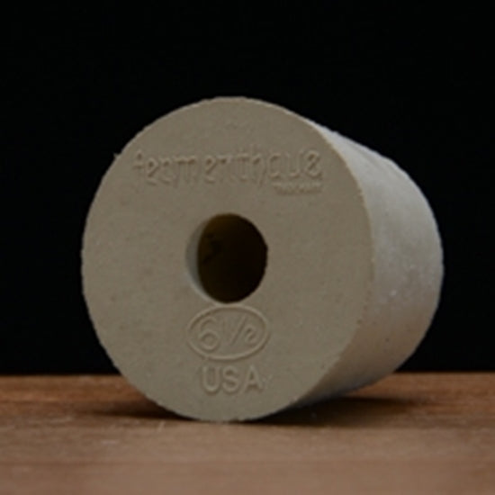 Drilled Rubber Stopper #6 ½