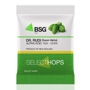 Dr. Rudi (Super Alpha) (NZ) Hop Pellets 1 oz