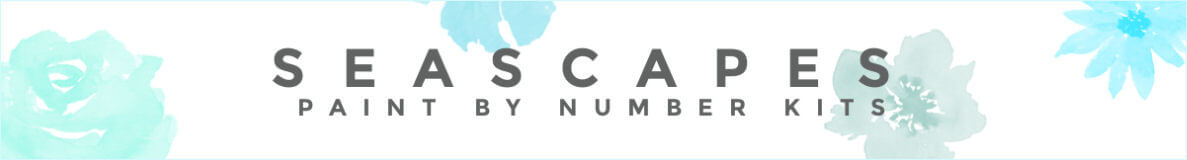 seascape and ocean paint by number kits