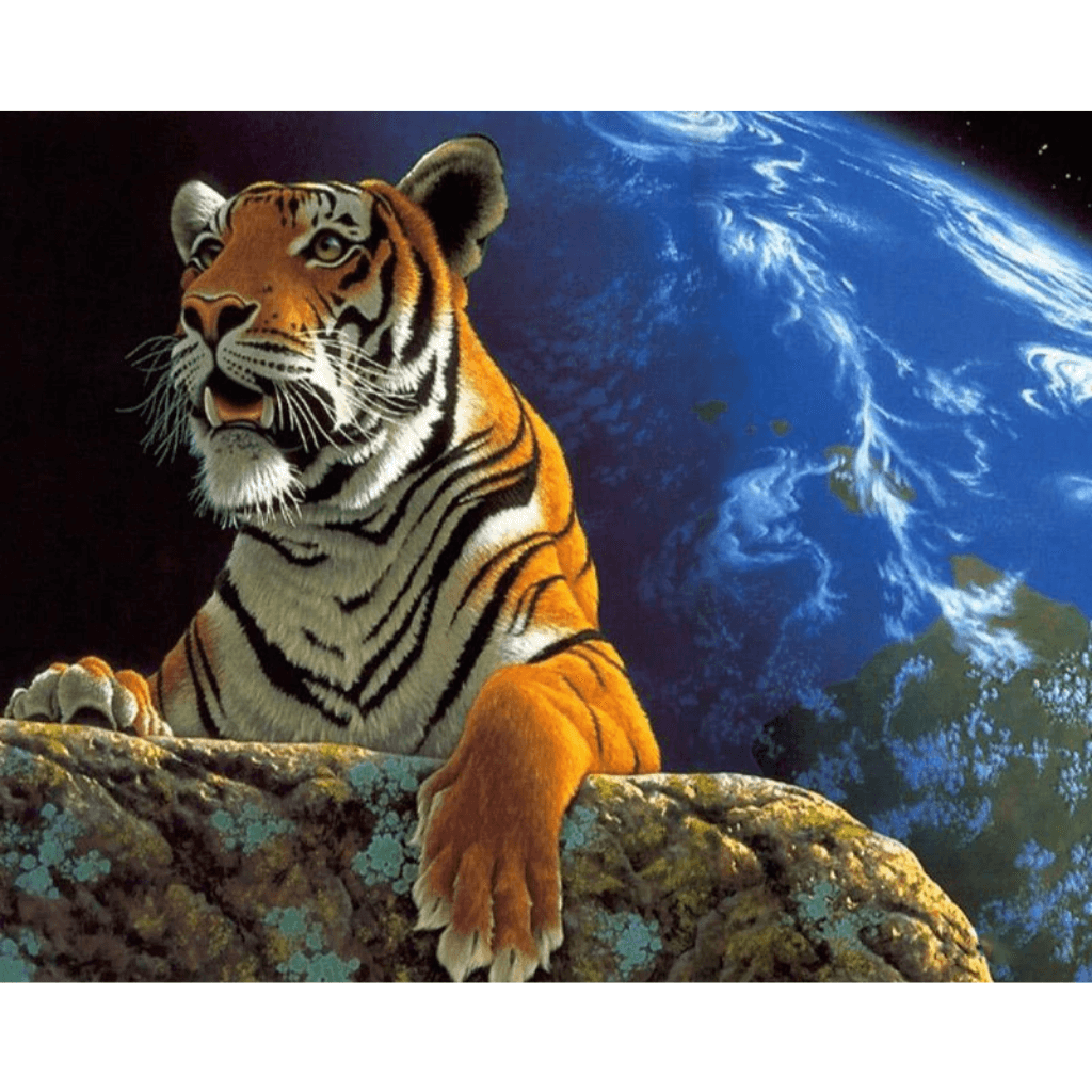 Waiting Tiger - Paint By Numbers Kit For Adults - Easy Paint By Numbers - DIY Animals