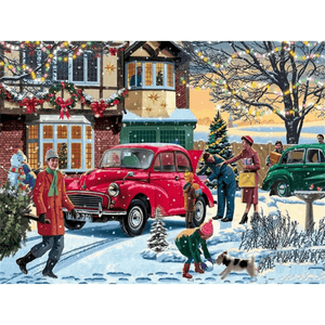Snow Street - Paint By Numbers Kit For Adults - Easy Paint By Number Kits for adults- DIY Snow