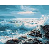Seascape Tides - Paint By Numbers Kit For Adults - Easy Paint By Numbers - DIY Ocean