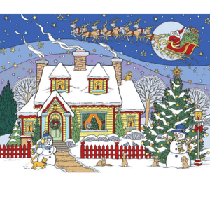 Christmas House - Paint By Numbers Kit For Adults - Easy Paint By Number Kits for adults- DIY Snow