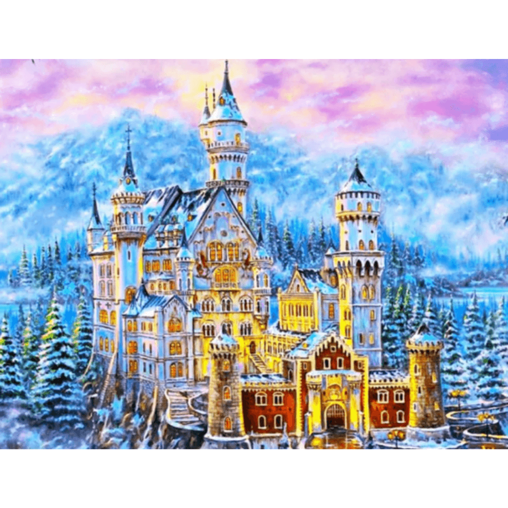 Castle - Paint By Numbers Kit For Adults - Easy Paint By Number Kits for adults- DIY Miss