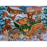 Christmas Night - Paint By Numbers Kit For Adults - Easy Paint By Number Kits for adults- DIY Snow