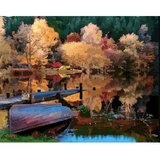 River Landscape - Paint By Numbers Kit For Adults - Easy Paint By Numbers - DIY Land