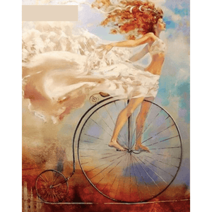 Bike Girl- Paint By Numbers Kit For Adults - Easy Paint By Numbers - DIY Miss