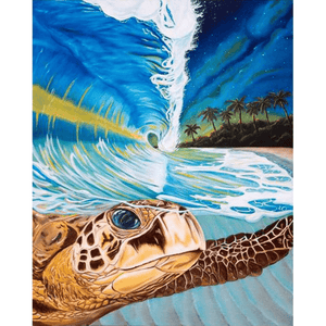 Sea Turtle - Paint By Numbers Kit For Adults - Easy Paint By Numbers - DIY Animals