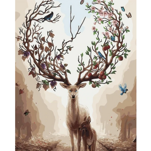 Magical Deer - Paint By Numbers Kit For Adults - Easy Paint By Numbers - DIY Miss