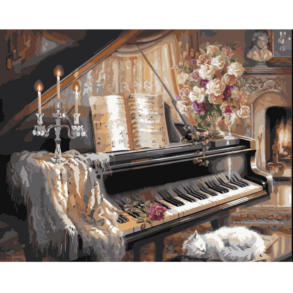Piano Decor - Paint By Numbers Kit For Adults - Easy Paint By Number Kits for adults- DIY Miss