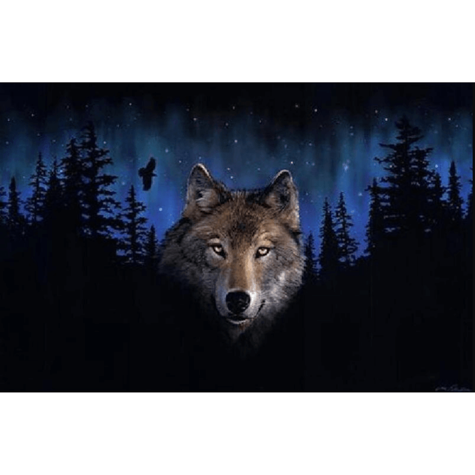 Violent Wolf - Paint By Numbers Kit For Adults - Easy Paint By Numbers - DIY Animals
