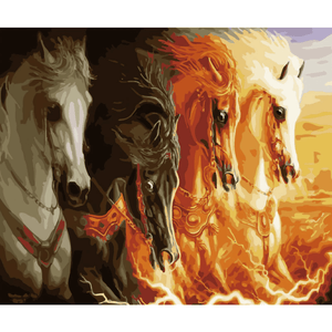 War Horse - Paint By Numbers Kit For Adults - Easy Paint By Numbers - DIY Animals